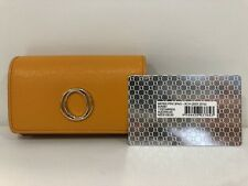 OROTON Metier Patent Leather Sunset Yellow -Coin Purse/Business Card Holder