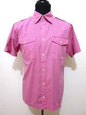 TOMMY HILFIGER Camisa De Algodón Hombre Man Algodon camisa M Sz. - 48