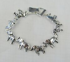 Silver Plated ELEPHANT Charm Bracelet With Magnetic Clasp # 3474 Good Luck