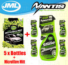 5 x JML Mantis Instant Shine Glossy Showroom Waterless Car Cleaner Spray + Mitt