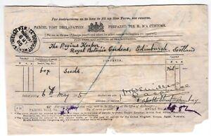 Declaration for parcel sent via the Foreign Parcel Department, Bombay, 1905