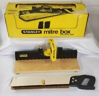 Stanley® 19-615 USA Vtg Mitre Box 4x16 Backsaw Complete Functional