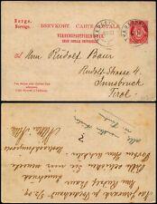 L530 Norway postcard stationery Austria Tudestrand Innsbruck 1909