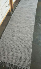 Rustic 100% Cotton Grey fleck reversible 60x230cm natural fibres runner