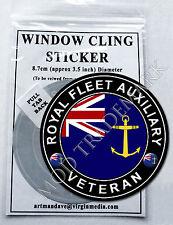 ROYAL FLEET AUXILIARY - VETERAN, WINDOW CLING STICKER  8.7cm Diameter