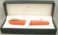 Monteverde Mega Orange & Chrome Fountain Pen - Stub Nib - New!
