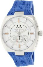 Armani Exchange Original Active AX1802 Blue Silicone Watch Chrono 48mm