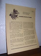 Canning Fruits at Home-Purdue University - Rev 6/81 - Pamphlet