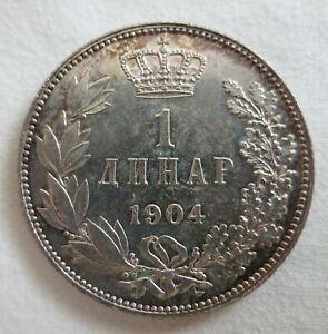 SERBIA Yugoslavia silver 1 dinar 1904 Choice UNC scarce
