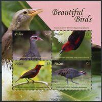 Palau 2018 MNH Beautiful Birds Rail Micronesian Myzomela 4v M/S I Stamps