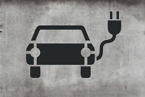 Schablone Elektro Auto, e Auto