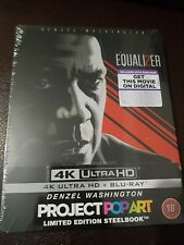THE EQUALIZER 2 4K UHD + BLU RAY Steelbook Project Pop Art NEW SEALED MINT