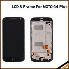 For Motorola Moto G4 Plus XT1642 XT1644 Black LCD Display Touch Screen with fram