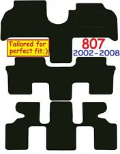 Peugeot 807 DELUXE QUALITY Tailored mats 2002 2003 2004 2005 2006 2007 2008 2009