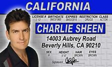 Charlie Sheen Drivers License - star of Two and a Half Men Platoon Wall Street