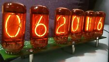 MOUNTED NIXIE CLOCK PCB WITH VALVO ZM 1040 TUBES WITHOUT CASE