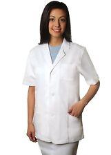 "Adar Universal 31"" Unisex Short Sleeve Consultation Scrub Coat"