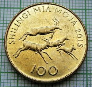 TANZANIA 2015 100 SHILINGI, 4 IMPALAS, UNC