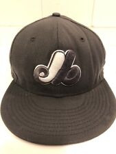 Vintage Montreal Expos Baseball Cap Gray Rare Color Cooperstown 7 5/8th