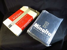 Vintage Minolta 16 MG Spy Camera Kit w/ Case Key Instructions Flash