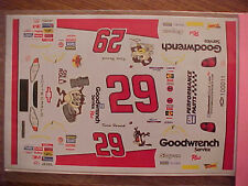 NEW 2001 KEVIN HARVICK #29 GOODWRENCH TAZ ON A ROLL 1/24-1/25  WATER SLIDE DECAL