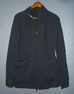 LULULEMON Full Zip ALLURING Yoga Jacket BLACK Long fit Thumb Holes RARE Sz 8