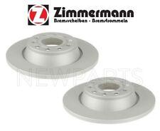 For Audi A3 Quattro VW Eos Jetta Set of Two Rear Brake Disc Rotors Zimmermann