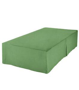 """Bed Skirt Twin Grass Green, 39"""" x 75"""" + 16"""" drop, 100% Polyester Microfiber"""