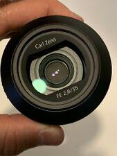 PRISTINE Sony CARL ZEISS Sonnar 35mm f/2.8 ZA Wide Angle Lens