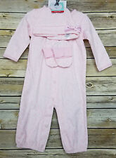 Carter's Pink 3 Piece Set Girls 6 Months Sleeper Hat Slippers Precious First NWT