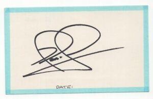Nigel Mansell - Formula One World Champion - Signed 3x5 Card