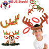 USA Christmas Inflatable Reindeer Hat Antler Ring Toss Xmas Party Kids Toy Gift