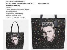 COACH ELVIS PRESLEY LIMITED FLORAL CANVAS TOTE SEALED F25880 NWT $295 Retail