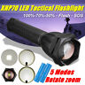 100000LM LED Tactical Torch Lamp XHP70 Zoom Flashlight Military Light Lamp