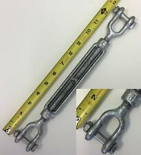 "Turnbuckle 1pc. 1/2"" x 6"" Jaw/Jaw for wire rope cable batting cages 2200lb W.L."