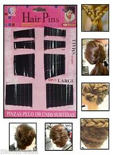 150 Nero Bobby MOLLETTE Kirby Grip Da Sposa clip morsetti Parrucchiere stile ondulato Slide