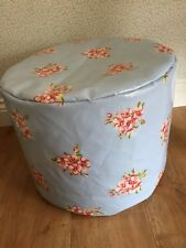 "BEANBAG /POUFFE HAND MADE IN  ""FLORAL"" OILCLOTH FABRIC OUTDOOR"