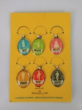 Hallmark Wine Charms The Wizard of Oz Good Bad Witch Brainy Courageous