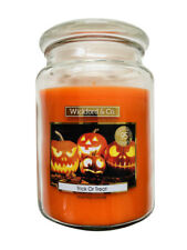 Wickford & Co Large Scented Candle In Glass Jar 15cm Halloween - Trick or Treat
