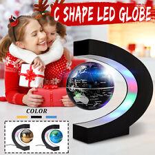 C Shape LED Magnetic Levitation Floating Globe World Map Home Office Decor