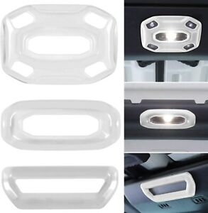Front Middle Rear Reading Light Panel Cover for 2018-2021 Jeep Wrangler JL-3PCS