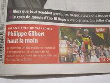 PHILIPPE GILBERT : GAGNE LE GP DE WALLONIE - 15/09/2011