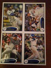 Los Angeles Dodgers 2012 Topps Team Set Series 1 2 & Update 34 Cards