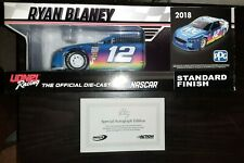 Autographed 2018 Ryan Blaney 1/24