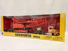 Kenworth W900 Lowboy Trailer W/ Crane Crawler Diecast 1:32 Scale New Ray Toys OR