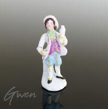 Figurine Ancienne Allemande 5cm  Sujet Chambellan Biscuit Miniature Bibelot