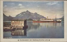 Nordland Norge Norway Hamburg Amerika Line Steamship FURST BISMARCK PC