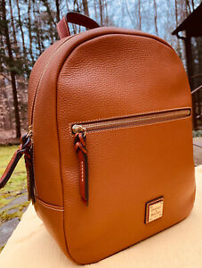 DOONEY & BOURKE PEBBLE GRAIN RONNIE BACKPACK CARAMEL TAN (NEW WITH TAGS)