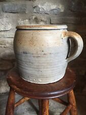 More details for stoneware french style decorative pot with handle