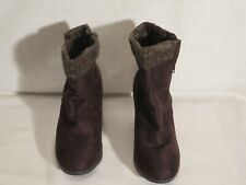 ShoeDazzle Suede Brown Ankle Boots Size 10